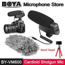 BOYA BY-VM600 Cardioid Directional Shotgun Condenser Microphone for Canon Sony Nikon Pentax Panasonic DLSR Camera Video Mic Fur