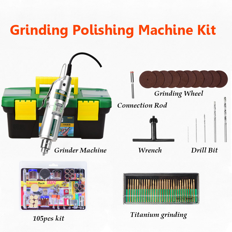 Variable Speed Mini Electric Grinder Machine with Governor Jade Wood Polishing Grinding Machine Kit vibration type pneumatic sanding machine rectangle grinding machine sand vibration machine polishing machine 70x100mm