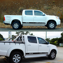 free shipping 2 PC side door  revo line stripe vinyl graphics decals for toyota hilux