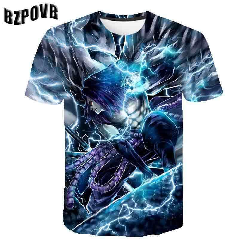 Лето 2019, 3D принт, морской король и Наруто, печать, короткий рукав, рубашка, модная, новейшая Мужская футболка, повседневная, дышащая футболка