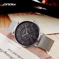 SINOBI New Women Bracelet Watches Week Display Ultra Thin Quartz Watch Fashion Ladies Dress Watch Jewelry