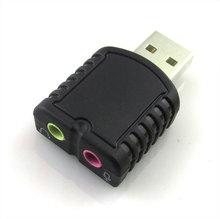 USB 2.0. внешняя звуковая карта. Стерео звук. Для десктопа или ноутбука.