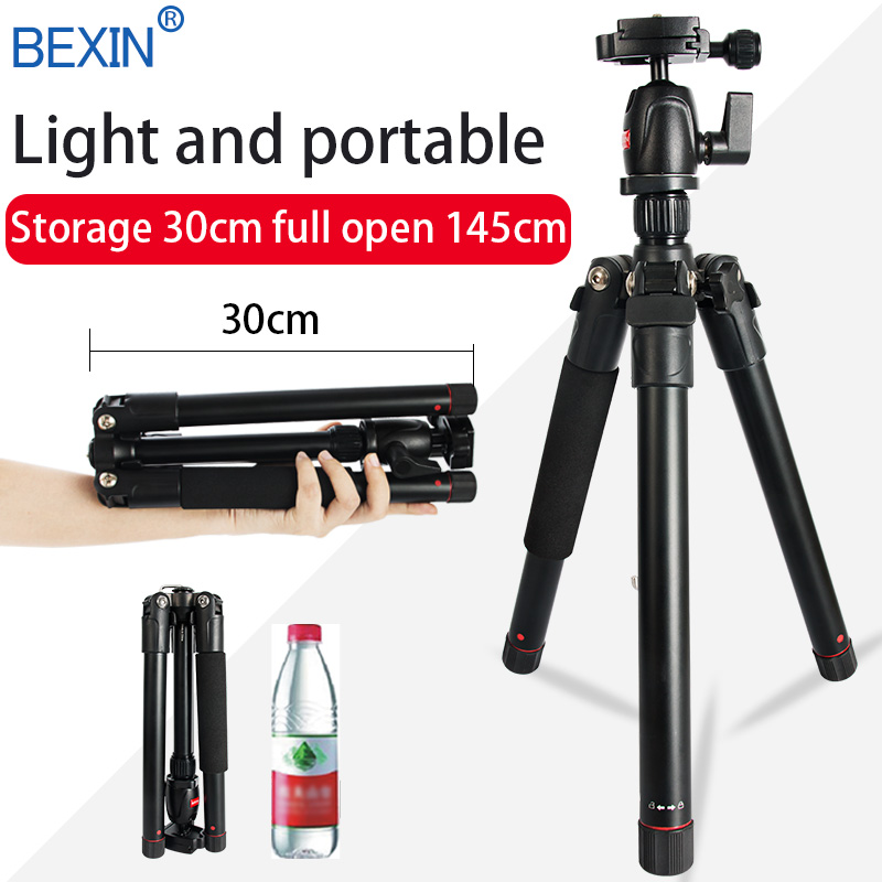 Camera Tripod 145cm Mobile Tripod Camera Phone Stand Lightweight Portable Travel Holder Tripod For Dslr Camera With Ball Head