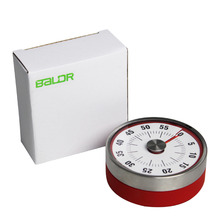 Baldr Mechanical Kitchen Cooking Baking Reminder Stainless Steel Manual Countdown Round Shape Magnetic Alarm Timer Counter 100% new and original ct6s 2p2 ct6s 2p autonics counter timer