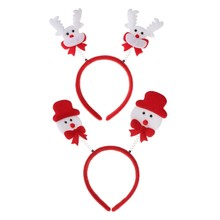 1Pc Elegant Stylish Deer Snowman Girls Boys Cute Headband Hairband Festival Original Design Christmas Gift Accessories-m15(China)