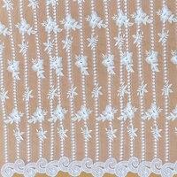 Tessuto wangde stereo fiore del commercio all'ingrosso vestito da cerimonia nuziale handmade diy abbigliamento accessori materiale pizzo decorativo