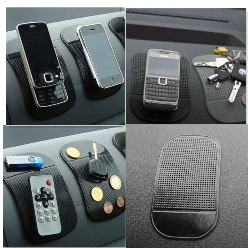 13*7Cm Universal Pu Mape Anti Slip Pad Automobile Spider Mat Mobile Phone Mat Holder Mount Black