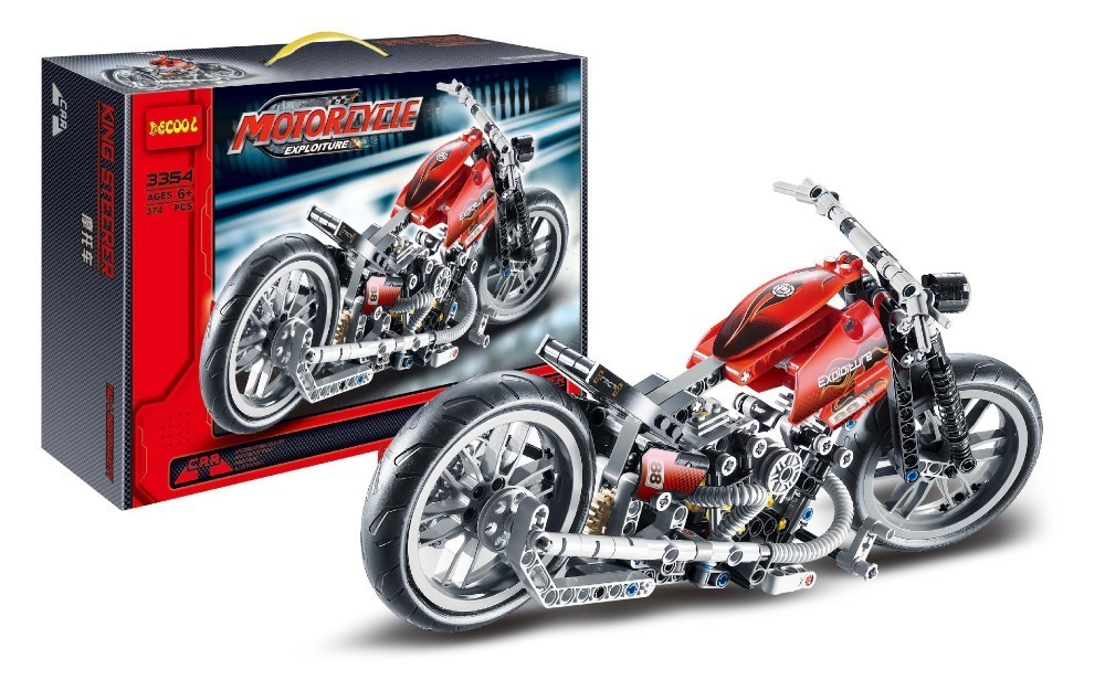 Decool 3354 Lepin Technic Motorbike Motorcycle Car building bricks blocks toys for children Boy Game Gift kid set lepin 02005 volcano exploration base building bricks toys for children game model car gift compatible with decool 60124