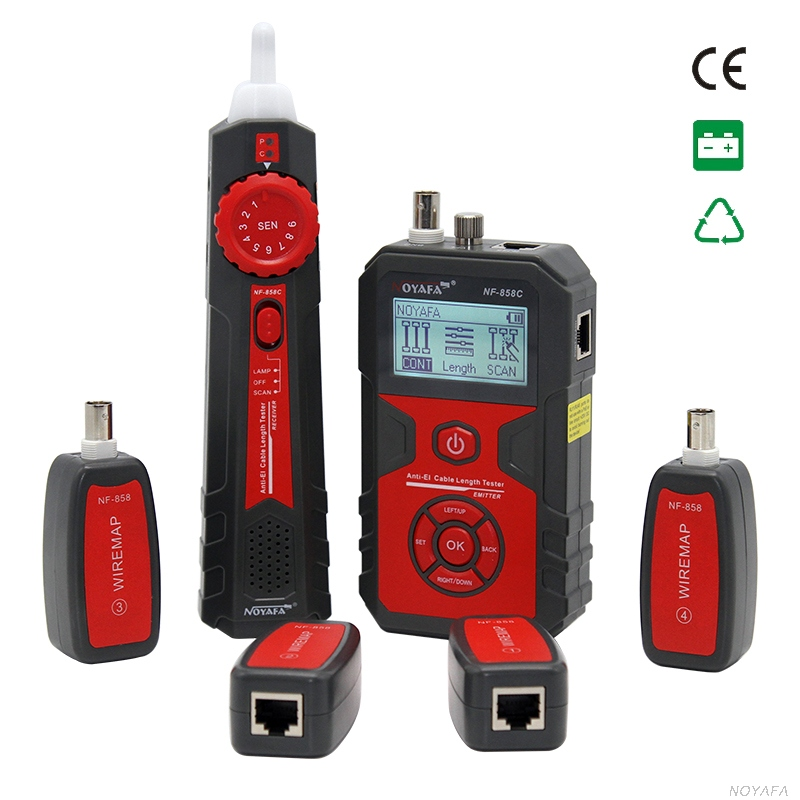 LCD Wire Tracker Cable Tracer  RJ45 BNC Coaxial Cable Length Tester Cable Fault Locator VFL UTP STP RJ45 Cat5 CAT6