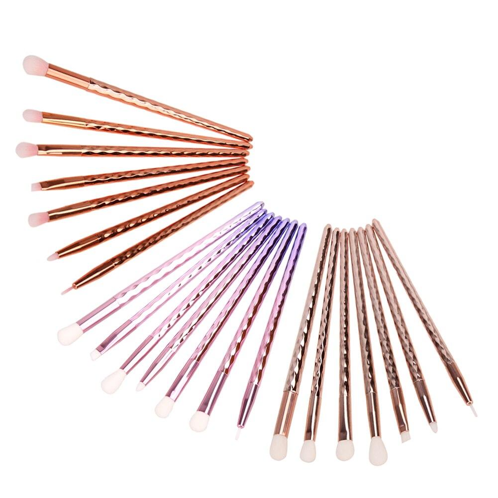 7pcs/Set Makeup Brushes Set Acrylic Diamond Shape Makeup Brushes Synthetic Hair Powder Eyebrow Make Up Brush Oval Brush Cosmetic