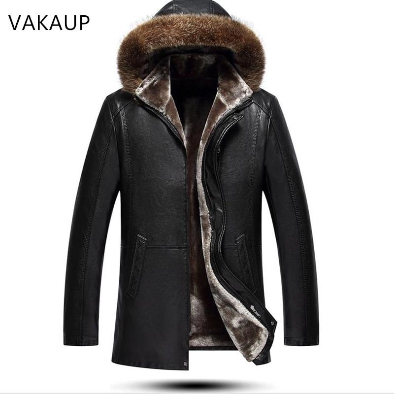 Mens Jacket Sheepskin Coats Wool Tie Cap Men s Fur Long Comfortable Plush Thick Coat Winter Innrech Market.com