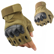Military Tactical Armed Gloves Army Combat Training Rubber Knuckle Fingerless / Full Finger Touch Screen Sport