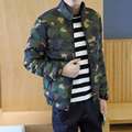 New 2016 winter fashion dark camouflage cotton-padded jacket men stand collar cotton down coat men's clothing size m-5xl MF14