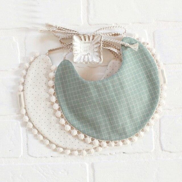 1 pcs Baby Double-Sided Printing Tassel Saliva Towel Bandana Triangle Bibs Head Scarf