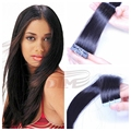 100% Indian Remy Tape Hair Extensions Strong Blue Lace Tape Adhesive 40PCS 10-24 inch PU Skin Weft Human Hair Extensions