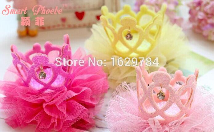 10st Mode Glitter 3D Gemstone Cutout Tiaras Hairbands Solid Söta - Kläder tillbehör - Foto 2