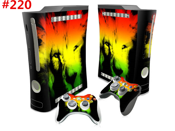 High Quality sticker decoration Decal Skin Stickers For Xbox 360 Fat  Console+ 2 Controllers