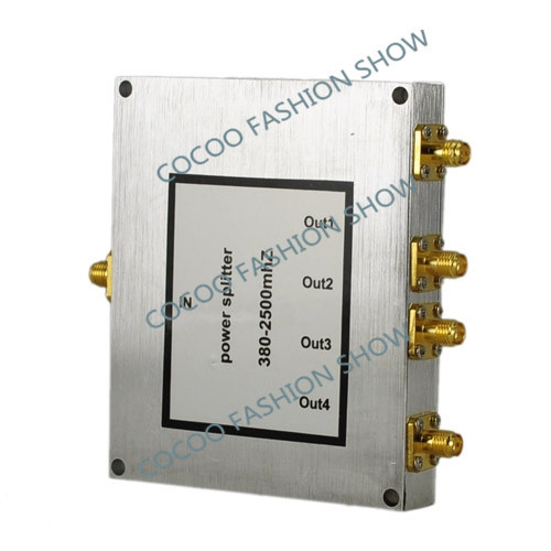 Power Dividers 4 Way Power Splitter Frequency 800-2500mhz For 3g cdma gsm Mobile phone repeater wifi booster