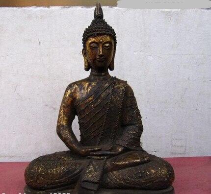 008459 thaïlande bouddhisme Temple cuivre Bronze thaïlande Sakyamuni Tathagat bouddha Statue