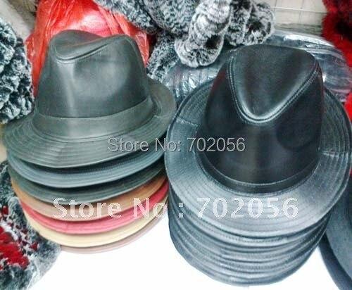 Кожаная Панама Топ фетровые мягкие шляпы топ шляпа джентльмена шляпа 10 шт./партия#1961