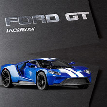 High simulation 1:36 Scale Ford GT Fast Furious Alloy Car Model Toy Pull Back For Kids Christmas Gifts Collection Free Shipping(China)