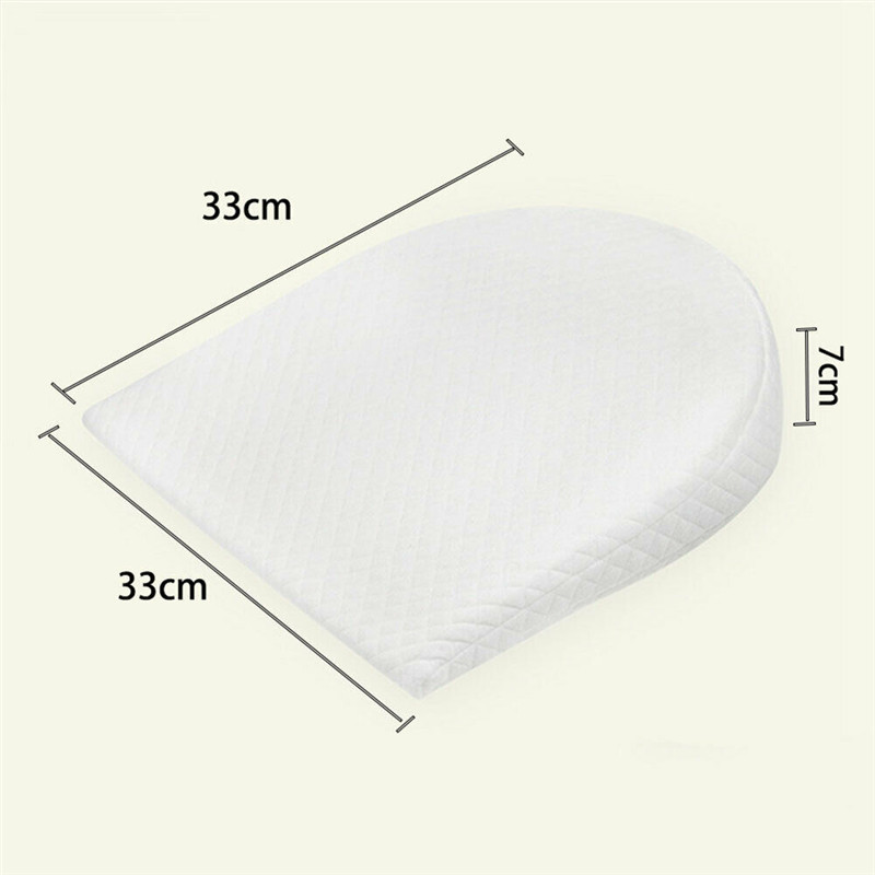 PUDCOCO Anti Roll Baby Wedge Pillow for Newborn Baby for Comfortable Sleep of Infant 3