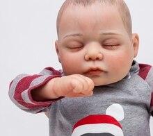 "20 ""reborn babies dolls 100% handmade boutique doll lifelike real sleeping newborn baby dolls children gift  toys boneca reborn"