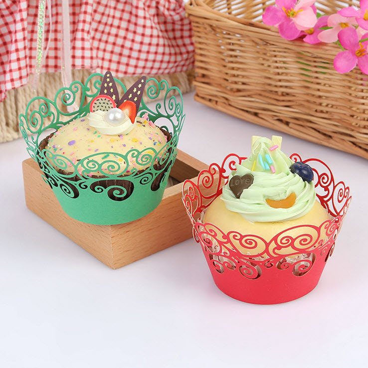 25pcs Lot Hollow Out Cake Paper Wrap For Wedding Birthday Party