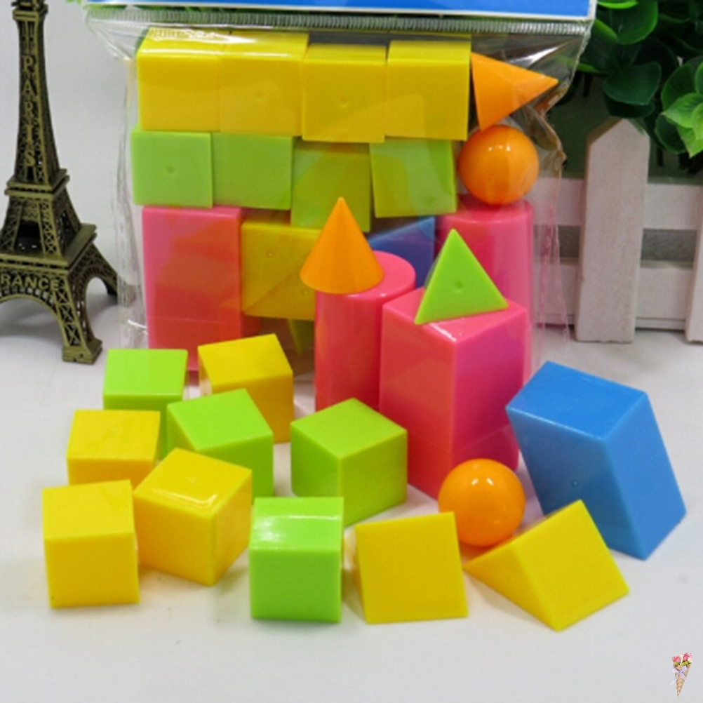 16pcs/set Math Baby Brinquedos Geometric Shapes Solids Oyuncak Montessori Toys For Children Educational Toy Materials Juguetes