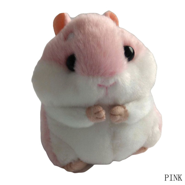 Hamster Mini Chaveiros Chaveiros Faux Rabbit Fur Pompom Fofo Bugigangas Carro Bolsa Pingente Chian Chave Anel Titular