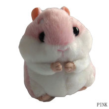 Hamster Mini Chaveiros Chaveiros Faux Rabbit Fur Pompom Fofo Bugigangas Carro Bolsa Pingente Chian Chave Anel Titular(China)