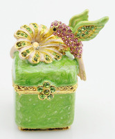Newest Crystals Wedding Favor Gift Box Jewelry Trinket Ring Case