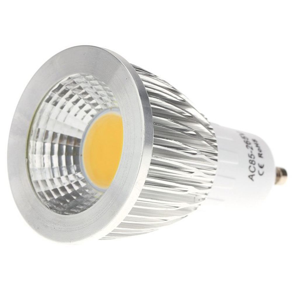 GU10 7W COB LED Bulb Light Energy Saving High Performance Bulb Lamp 85 - 265V Warm White