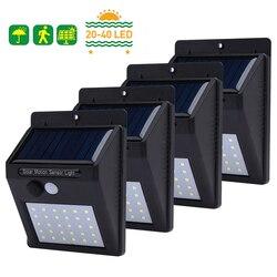 20 Вт, 30 Вт, 40 светодиодов Солнечный свет движения PIR Сенсор Солнечный садовый фонарик с защитой от воды на открытом воздухе энергосберегающи...