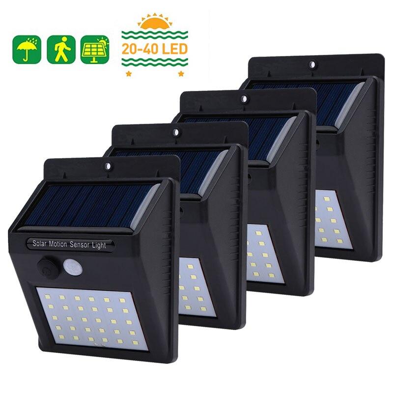 20/30/40 LEDs Solar Licht PIR Motion Sensor Solar Garten Licht Wasserdichte Außen Energy Saving Street Hof pfad Hause Lampe