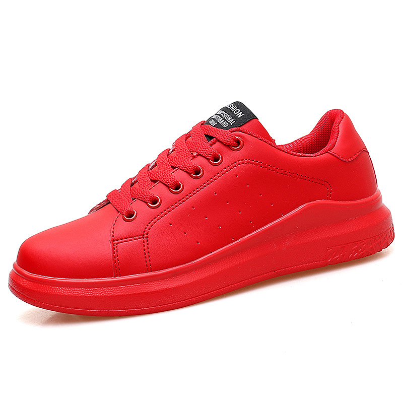 New Spring and summer junior high school students red shoes big boy male shoes boys and girls youth casual running shoes|Running Shoes|   - title=