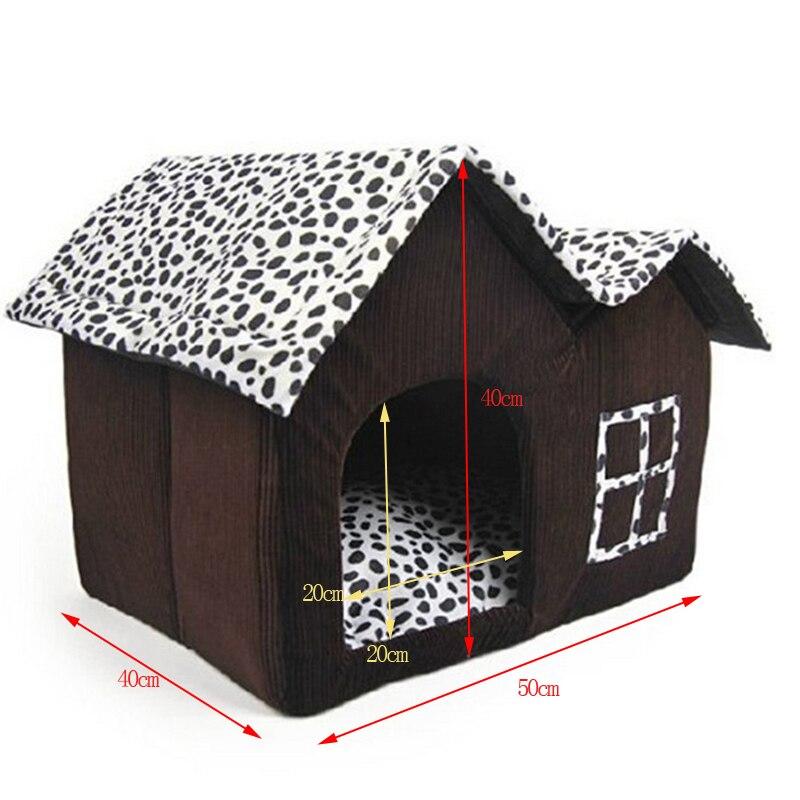 Más el Tamaño de la Casa de Perro Plegable Cama Del Perro Casa Grande Con la Est