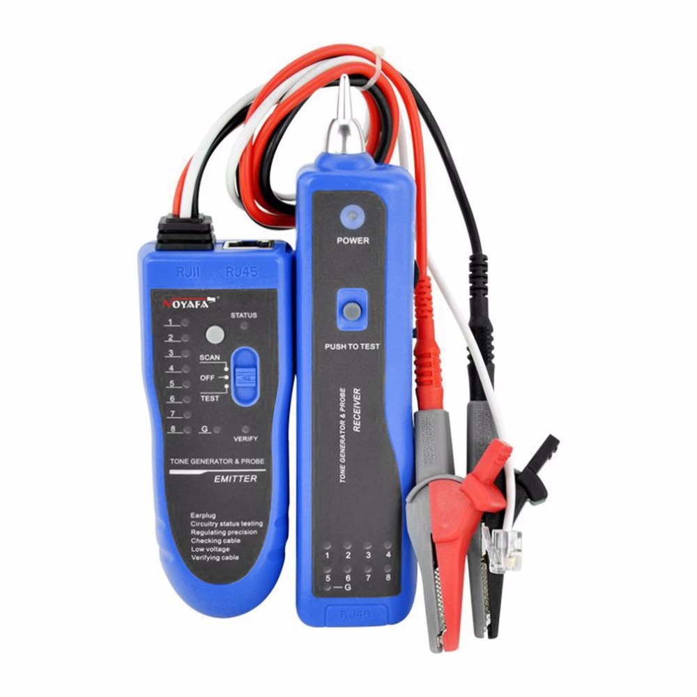 NOYAFA RJ45 RJ11 Кримпер Lan Сетевой кабель усилитель тон-генератор Комплект проводов анализатора LAN тестер кабеля трекер для BNC телефонная