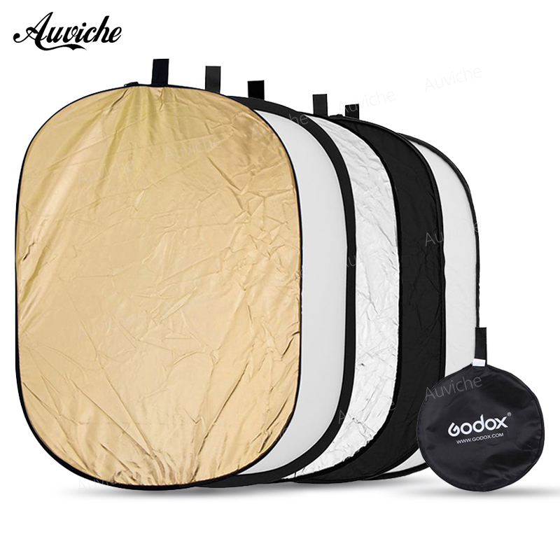 Godox 5 in 1 150x200cm Portable Oval Multi Disc Reflector,Collapsible Photography Studio Photo Camera Light Diffuser/Reflector