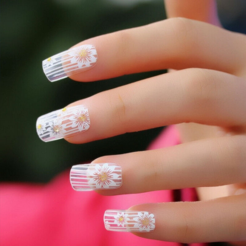 Beauty Nail Art Stickers White Lace Tools Fake Nails Decal 12sheet Lot On Aliexpress Alibaba Group