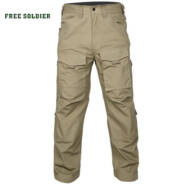 FREE SOLDIER Наружные брюки мужские тактические брюки на четыре сезона боевые рабочие брюки со многими карманами YKK молнии Локальная доставка