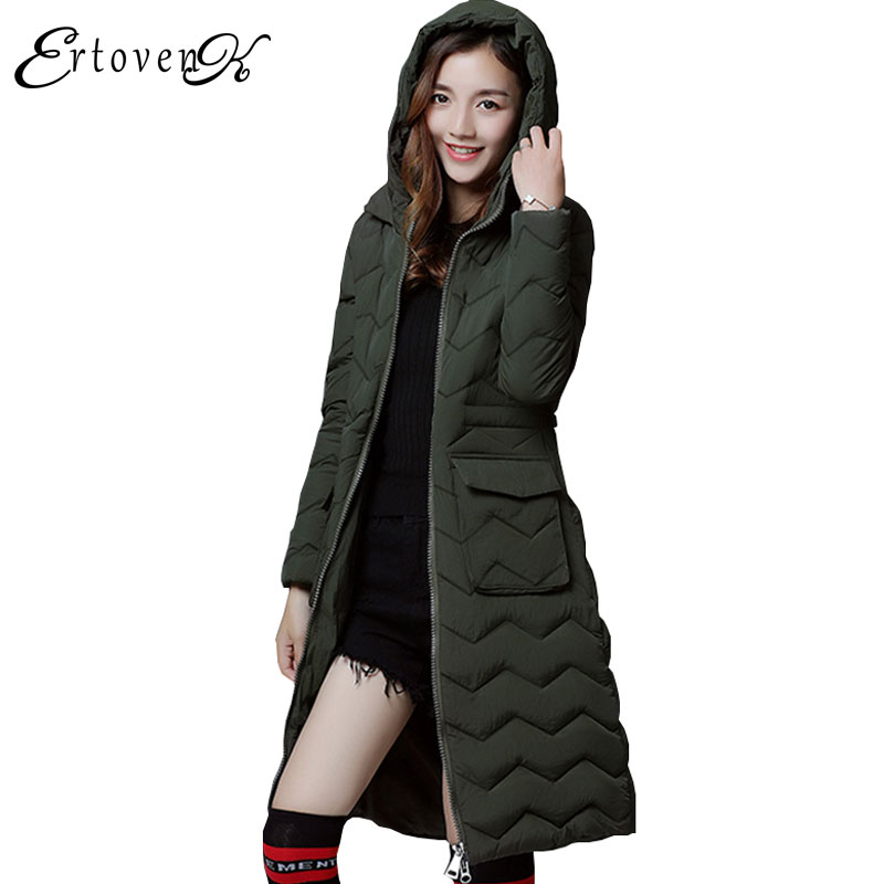 Plus size Hooded Thick Parkas Winter New Coat 2017 Women Outerwear Warm Long section overcoat Feather Padded Female Coats C55 womens winter jackets coats 2017 high quality thick warm cotton padded hooded outerwear women parkas plus size 5xl winter coat