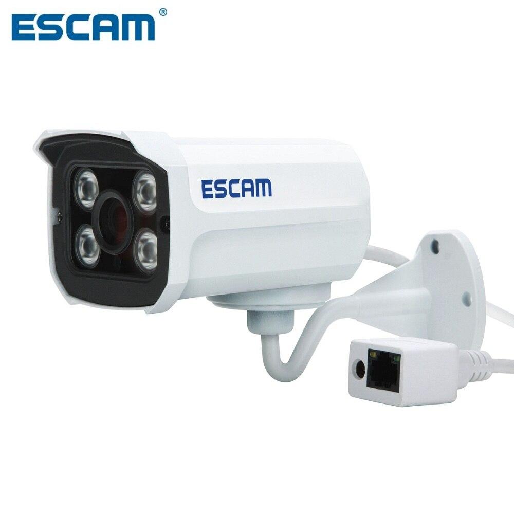 imágenes para Ladrillo ESCAM QD300 Impermeable Bala Cámara IP CCTV 1/4 Inch 1MP CMOS 720 P-Blanco