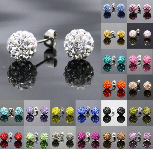 New Ball Bead Pearl Drop Earrings Gold Silver Plated latest style Free P/&P UK