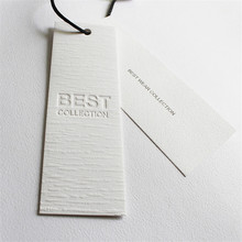 Factory Price Custom High-End Hot-pressing gravure Printing Clothing Hang Tags