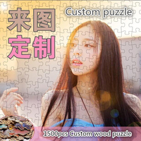 Custom puzzles wooden Jigsaw puzzle 1000 pieces painting adult children toys home decoration scenery puzzles Decorative painting