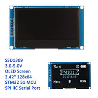 2 42 12864 Oled Display Module White Screen SPI IIC I2C Port For Arduino STM32 C51