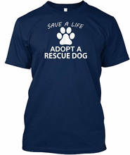 2018 T Shirt Fashion O-Neck Men Short Sleeve Fashion 2018 Save A Life Adopt A Rescue Dog Tee Shirts save grains saves life