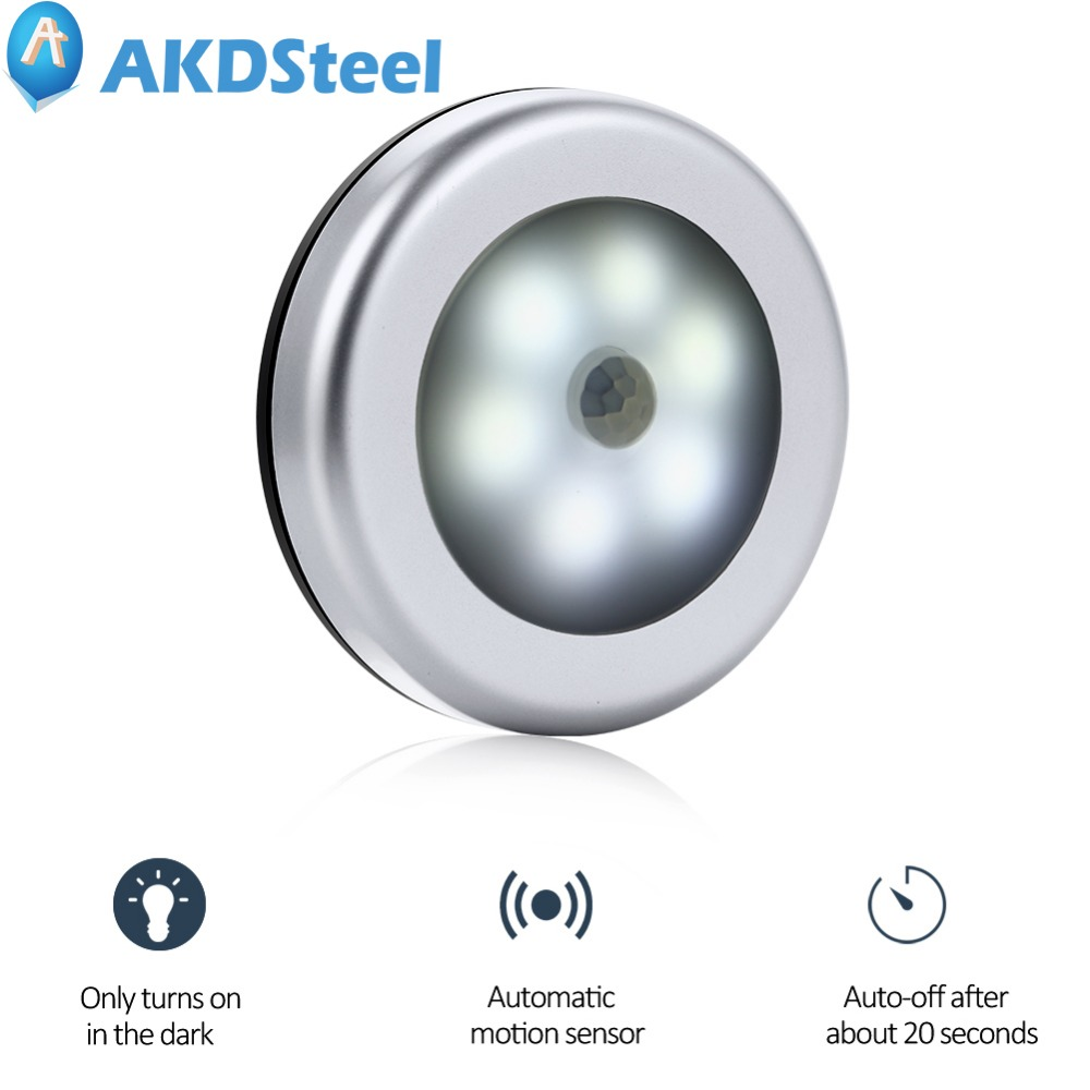 AKDSteel New Infrared PIR Motion Sensor Led Night Light Magnetic Wireless Detector Light Wall Lamp Light Auto On/Off Closet 5 novelty led motion sensor activated night light wall closet touch human body infrared induction atmosphere lamp light