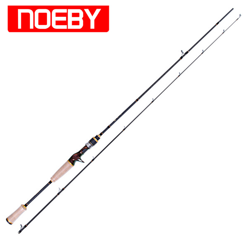 2 Section Noeby Carbon Casting Fishing Rod 1.98m/2.13m M/ML FUJI A Ring FUJI Reel Seat Bass Lure Rods Stick Vara De Pesca Olta